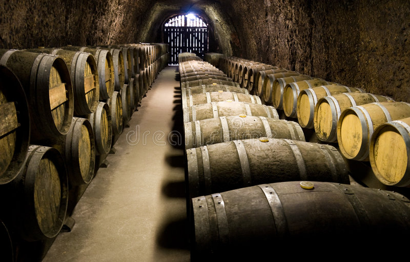 Download Wine Barrels In Cellar Royalty Free Stock Images - Image: 4417569