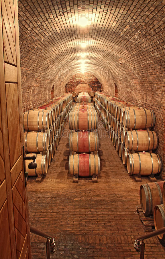 Free Wine Barrels In A Row Royalty Free Stock Image - 35553986