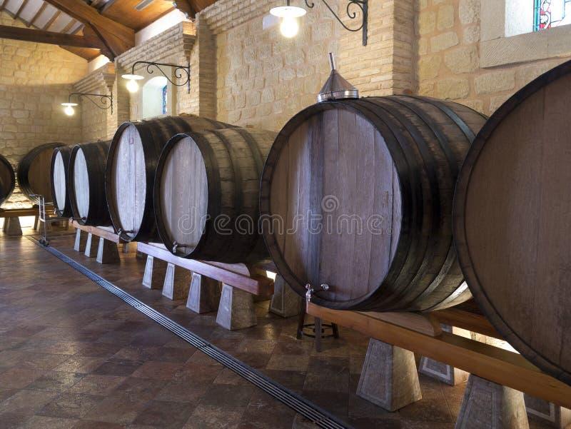 Wine Barrels - Spanish Bodega - Spain stock photo