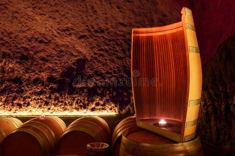 Wine Barrels. At a winery, Napa Valley, California, USA royalty free stock images