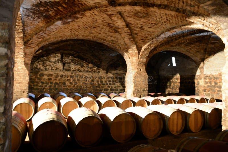 Download Wine Barrels At The Winery Santa Rita. Stock Photo - Image: 83709652