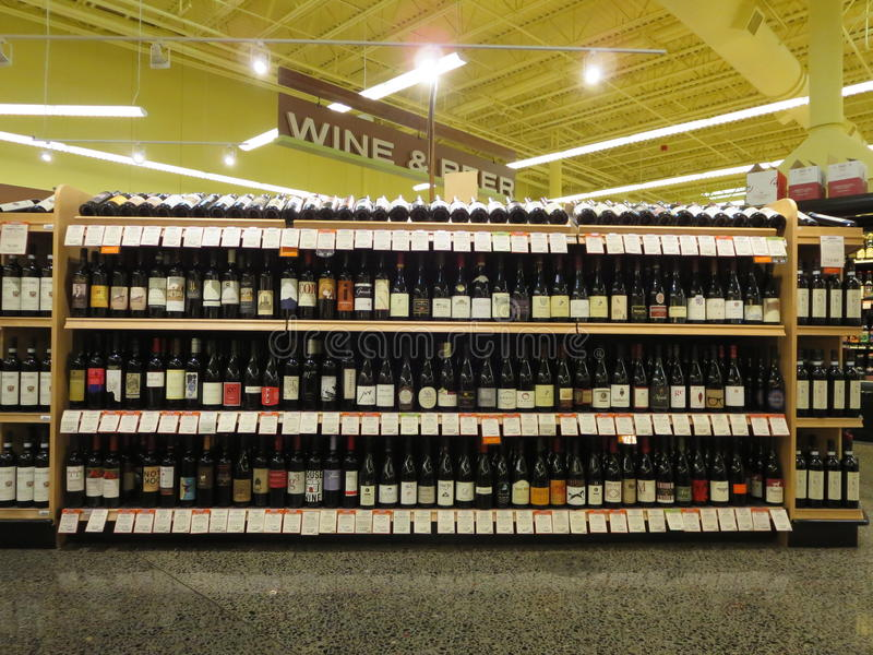 Wine and beer stock images