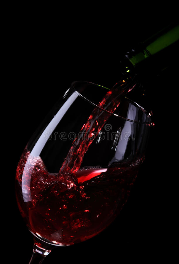 Download Wine Being Poured Into A Glass Stock Image - Image: 12613429