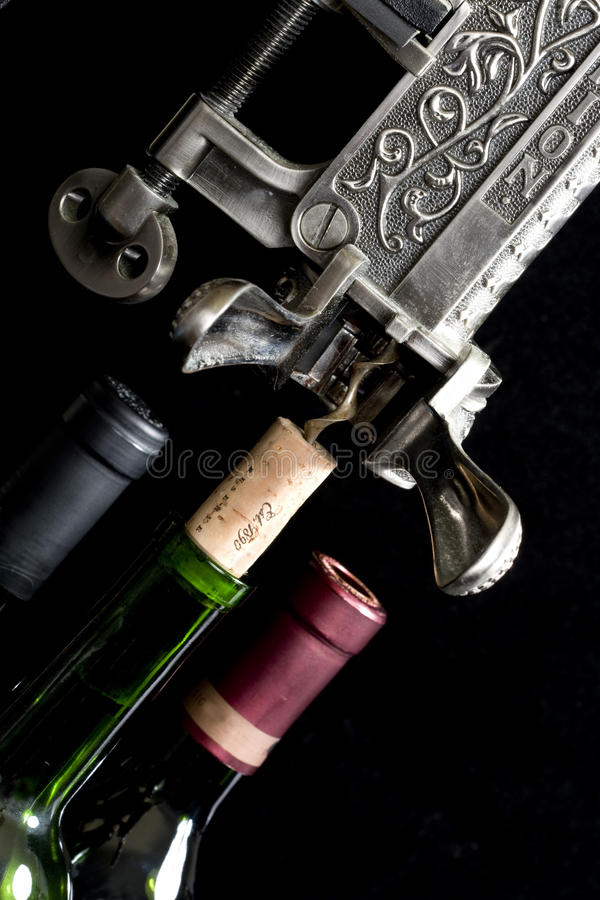 Download Wine being Uncorked stock photo. Image of uncork, black - 13470484