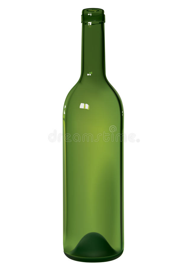 Wine bottle royalty free illustration