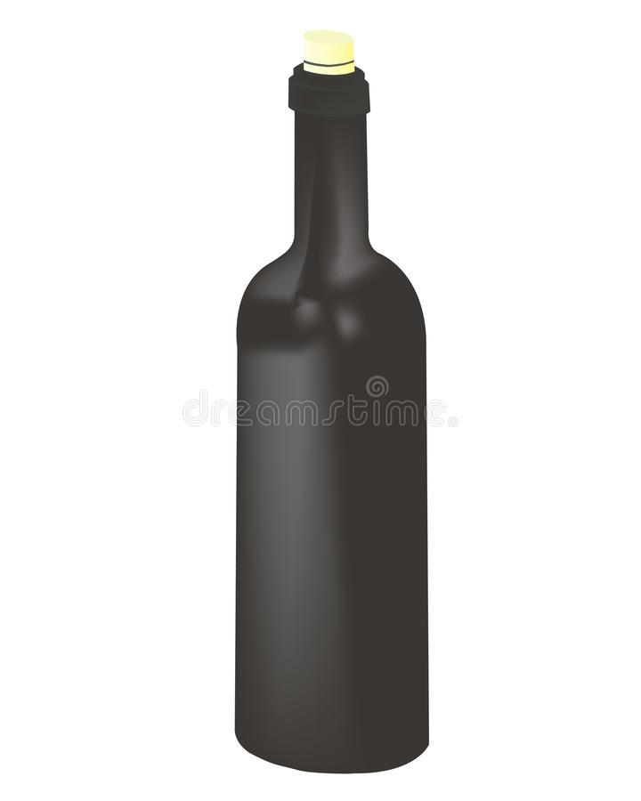 Download Wine bottle stock vector. Image of drunk, liquid, discotheque - 11233675
