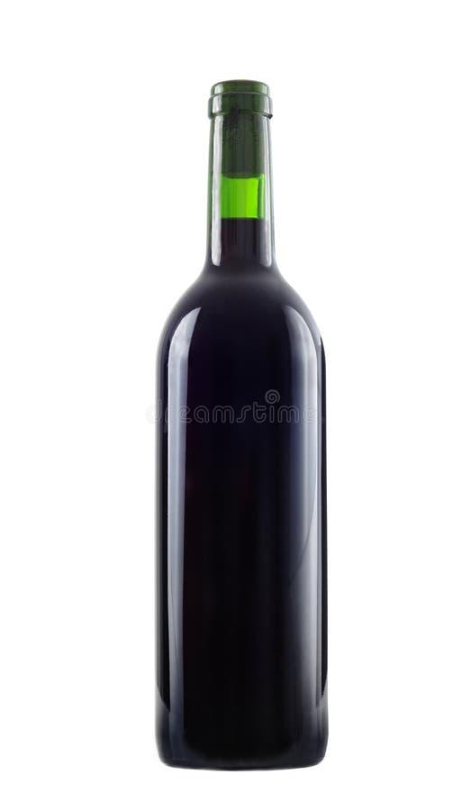 Wine bottle. Red wine bottle studio isolated stock photo