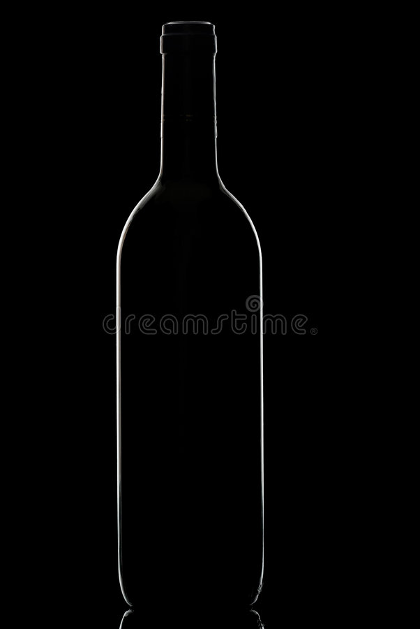 Wine bottle. royalty free stock photography