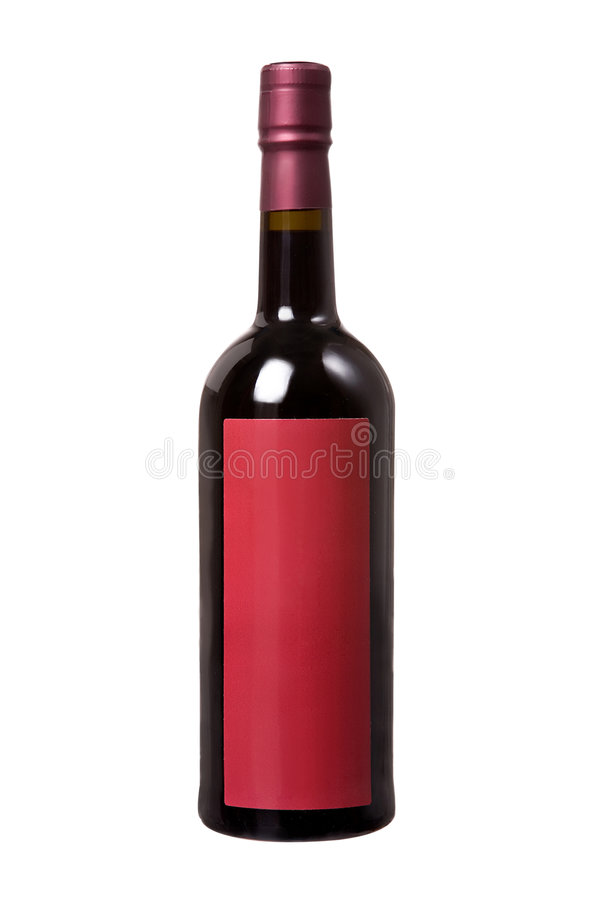 Wine bottle stock image