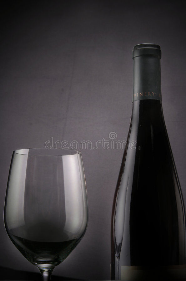 Wine with Bottle royalty free stock image