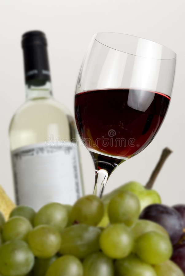 Wine and bottle stock images