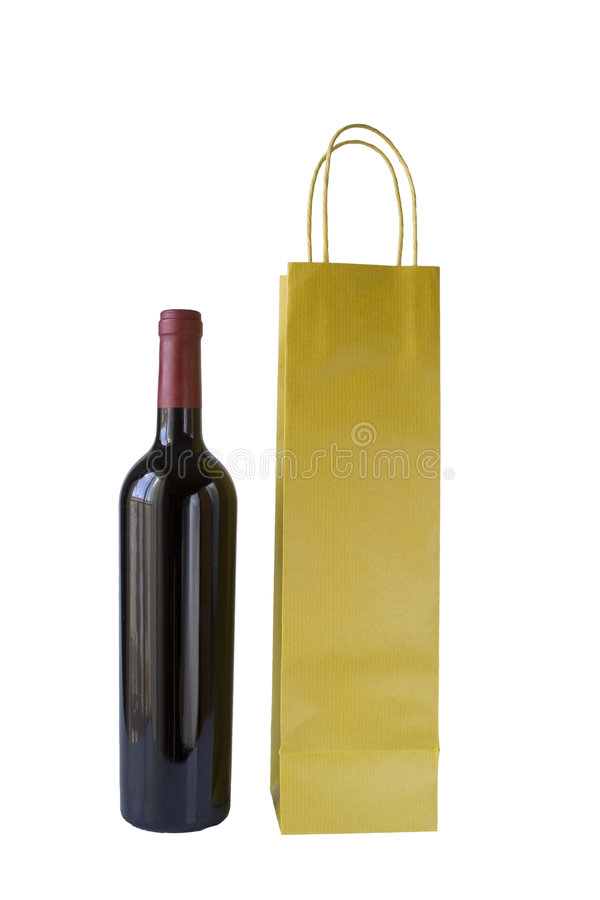 Free Wine Bottle And Bag Stock Photo - 3953080