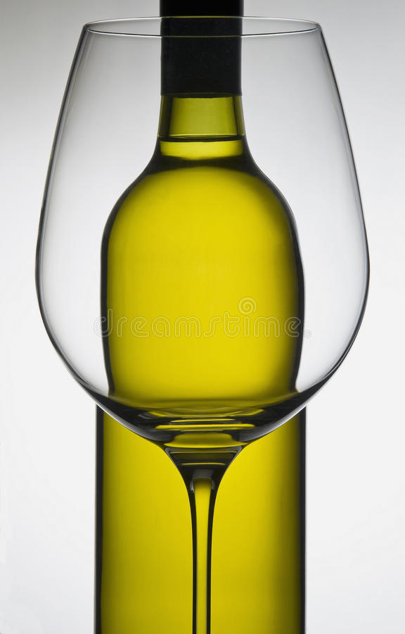 Free Wine Bottle And Glass Royalty Free Stock Image - 24461566