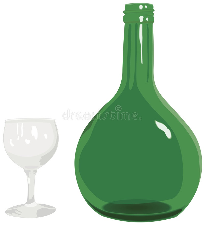 Free Wine Bottle And Glass Royalty Free Stock Photography - 6632847