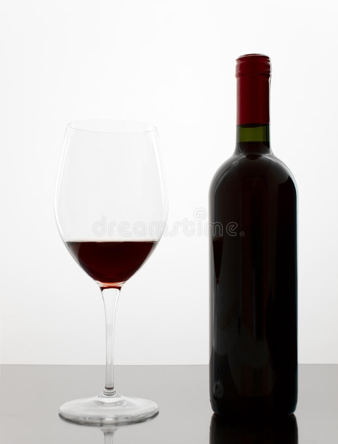 Free Wine Bottle And Glass Royalty Free Stock Image - 9949596