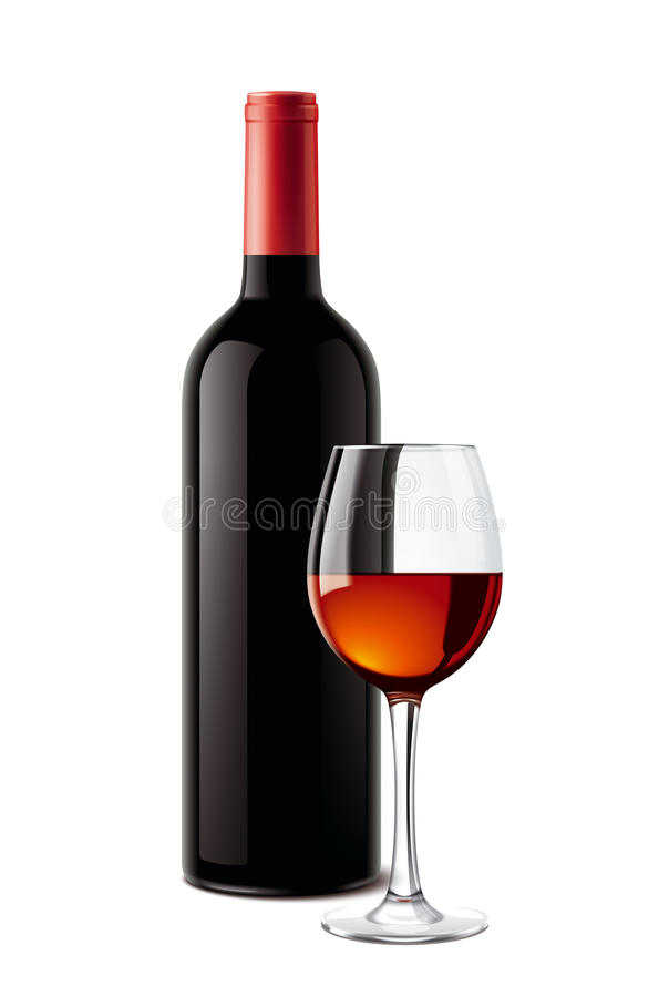 Free Wine Bottle And Wineglass Royalty Free Stock Photo - 60689885