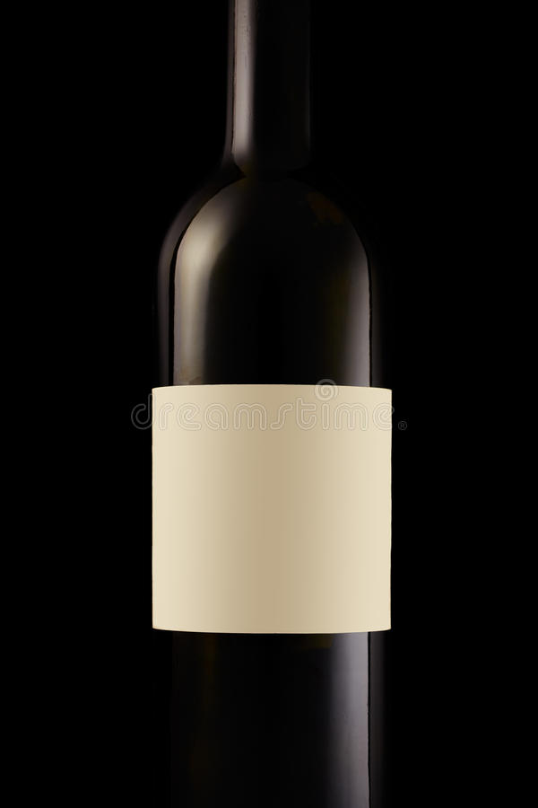 Download Wine Bottle With Blank Label Stock Image - Image: 19099767