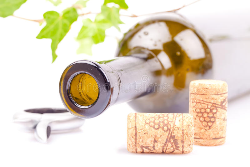 Download Wine bottle and corks stock image. Image of grapes, black - 24196595