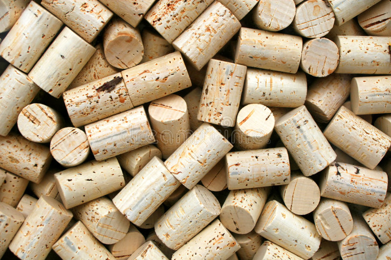 Wine Bottle Corks. For making wine royalty free stock photo