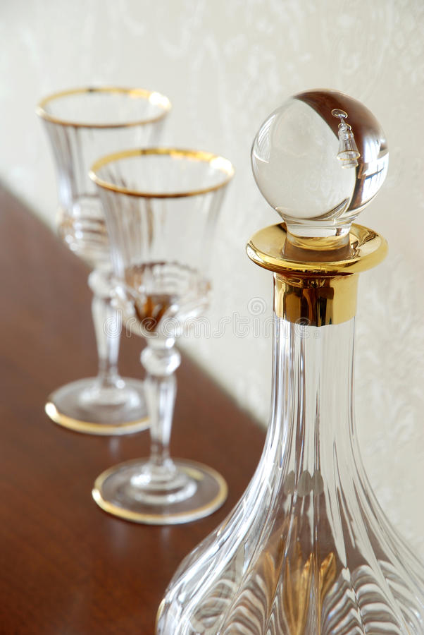 Download Wine Bottle And Cups Royalty Free Stock Photo - Image: 21164655