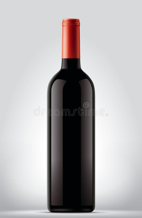 Wine bottle stock illustration