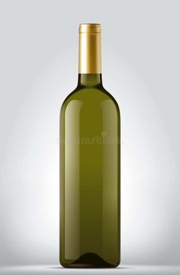 Wine bottle. Detailed illustration for other use stock illustration