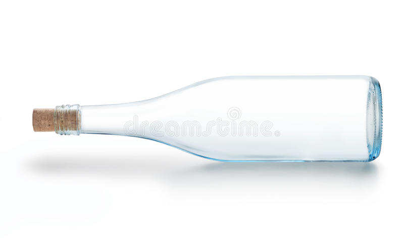 Glass Wine Bottle Empty stock photos