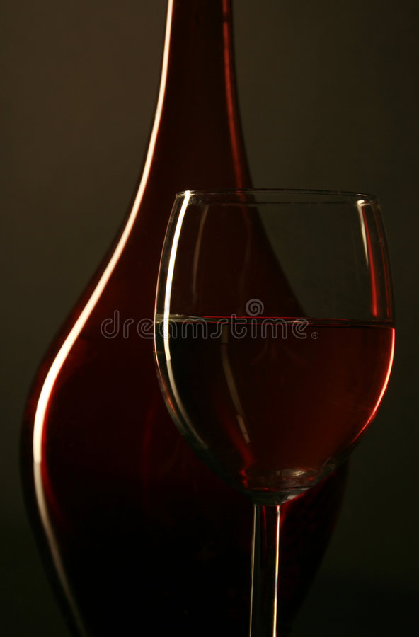 Download Wine bottle and glass stock image. Image of mort, darkness - 6669883