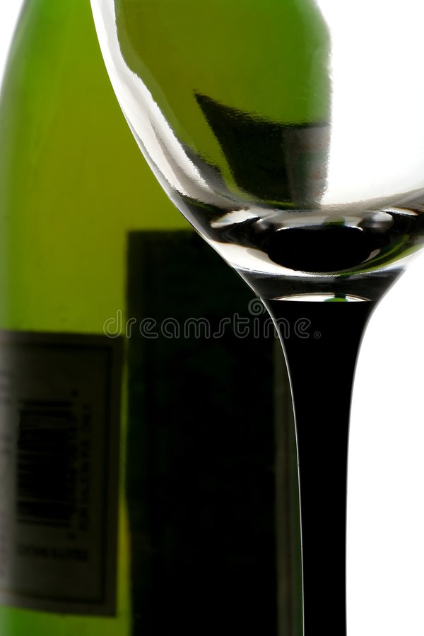Download Wine Bottle and Glass stock photo. Image of alcohol, goblet - 918562