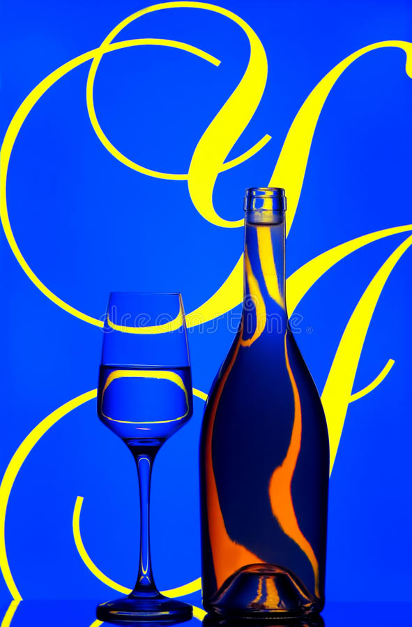 Download Wine Bottle And Glass Abstract Stock Image - Image: 17848561