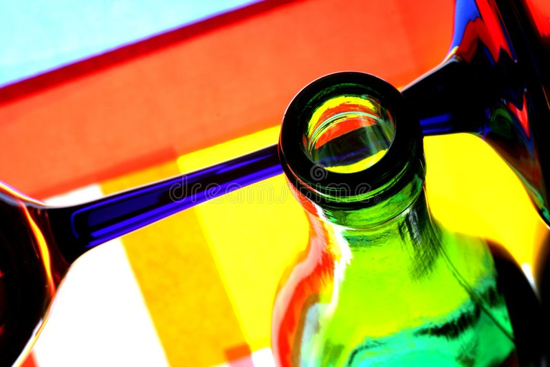 Download Wine Bottle & Glass Abstract Stock Photo - Image: 4982128