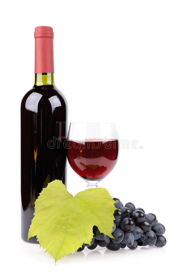Download Wine Bottle, Glass And Grapes Stock Photo - Image: 27352892