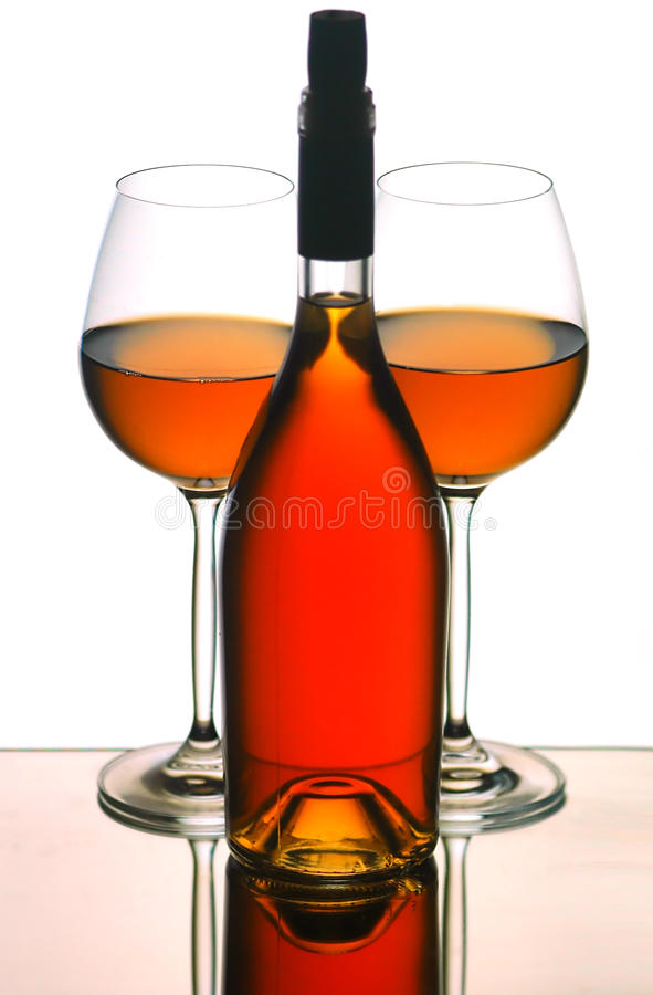 Download Wine bottle & glasses stock photo. Image of fluid, wine - 17263392