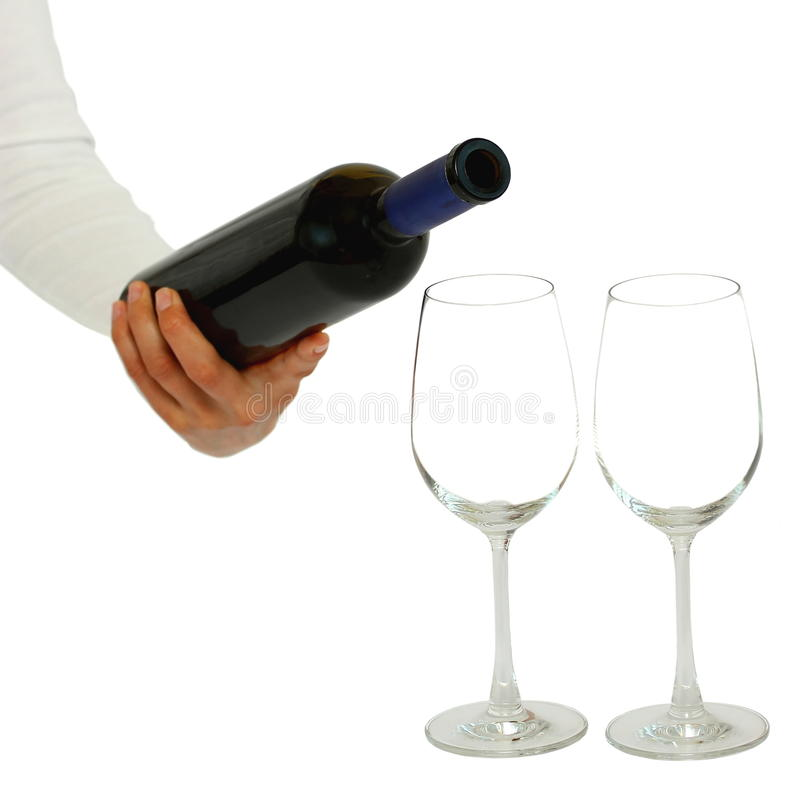 Download A wine bottle and glasses stock photo. Image of background - 24538328