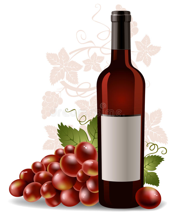 Download Wine Bottle And Grape Stock Photos - Image: 19585883