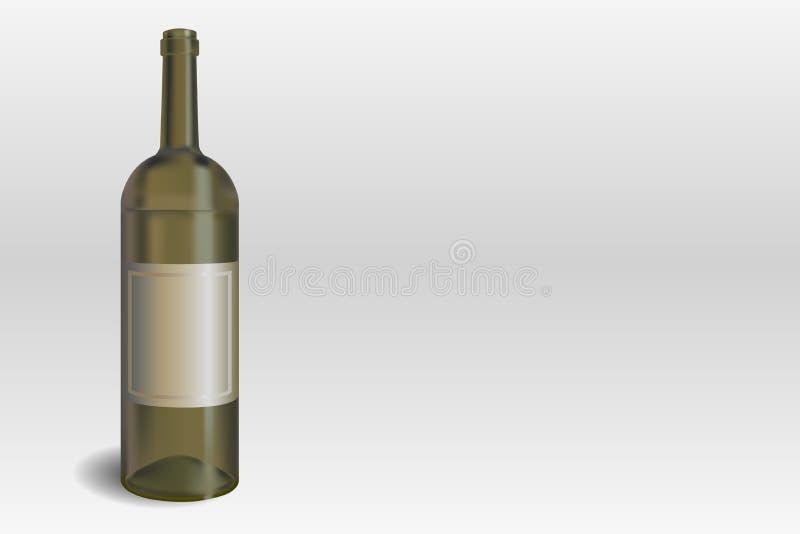 Wine bottle on the gray background vector illustration vector illustration
