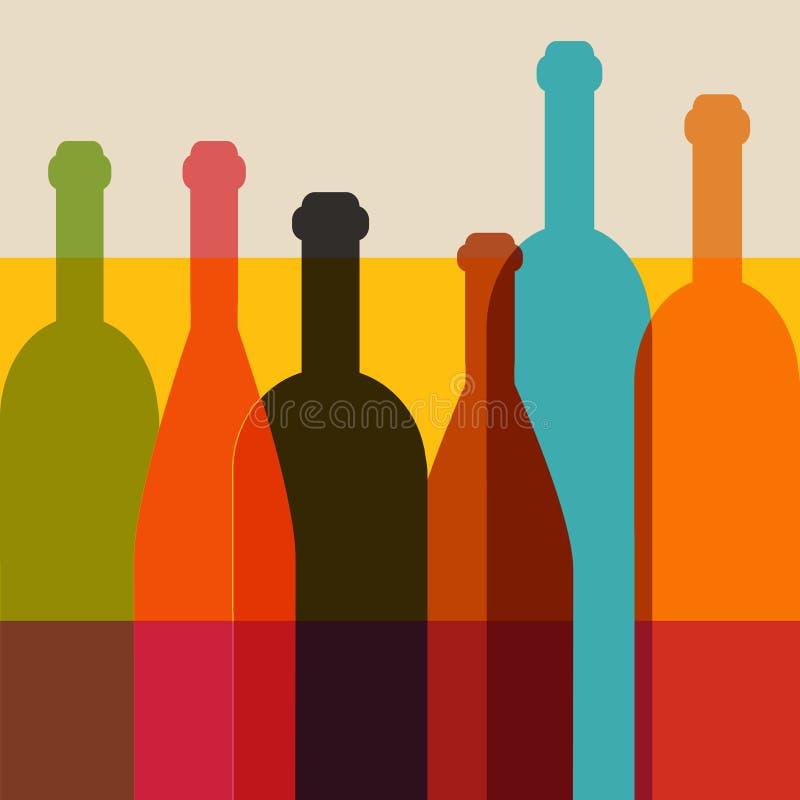 Wine bottle illustration. vector illustration