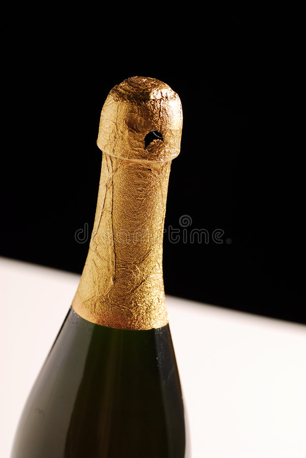 Download Wine Bottle Isolated On Black Stock Image - Image: 7460971