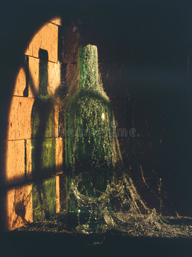 Download Wine Bottle Left In Cellar Royalty Free Stock Photo - Image: 186175