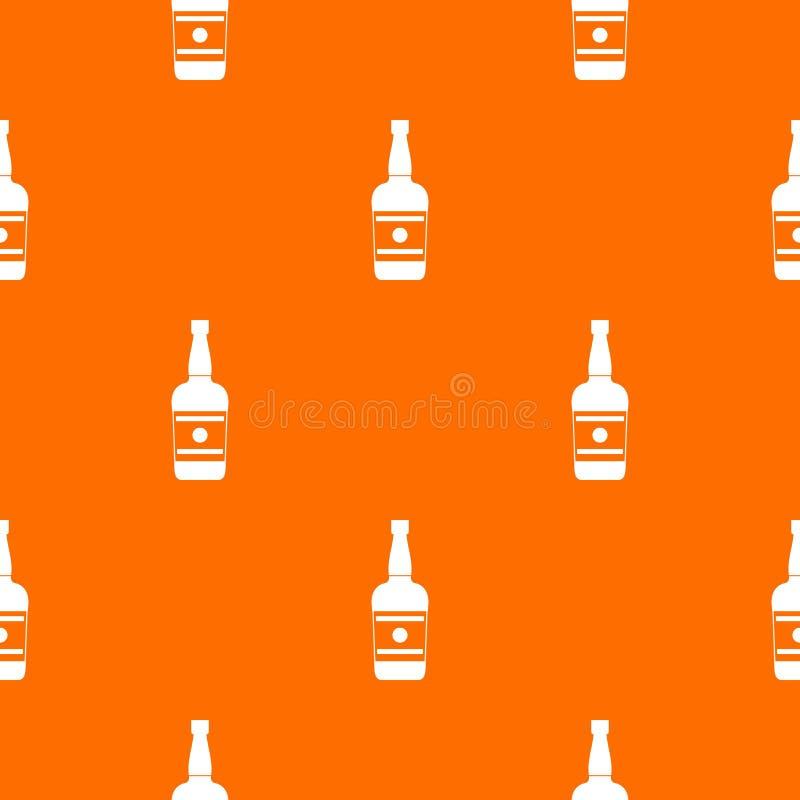 Wine bottle pattern vector orange. For any web design best royalty free illustration