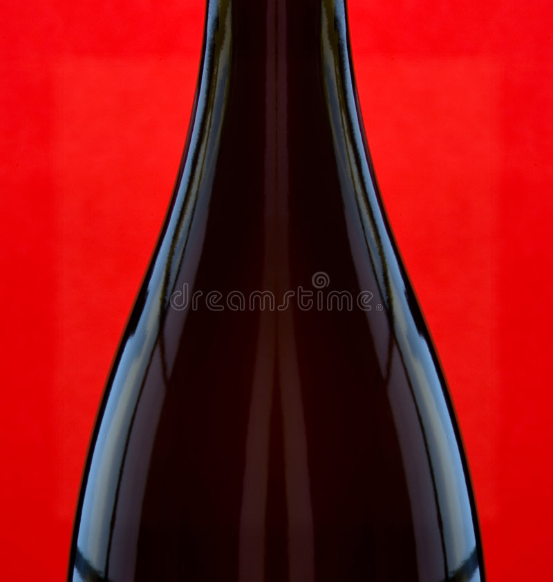 Download Wine Bottle On Red Royalty Free Stock Photos - Image: 7528688