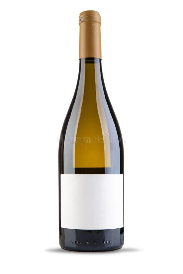 Wine bottle. On white background stock images