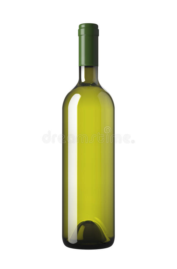 Wine Bottle withe isolated royalty free illustration