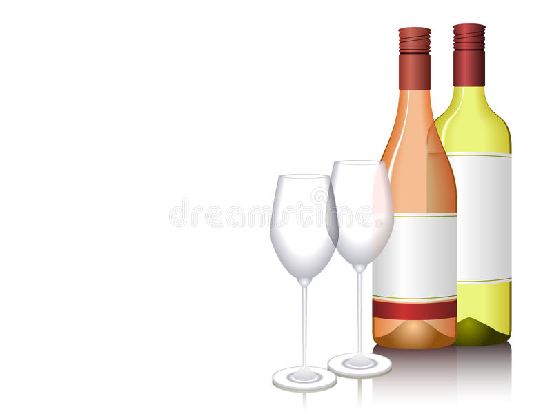 Wine Bottles vector illustration