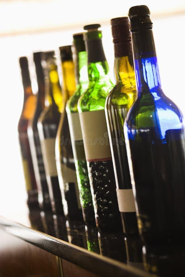 Free Wine Bottles Royalty Free Stock Photography - 12989827