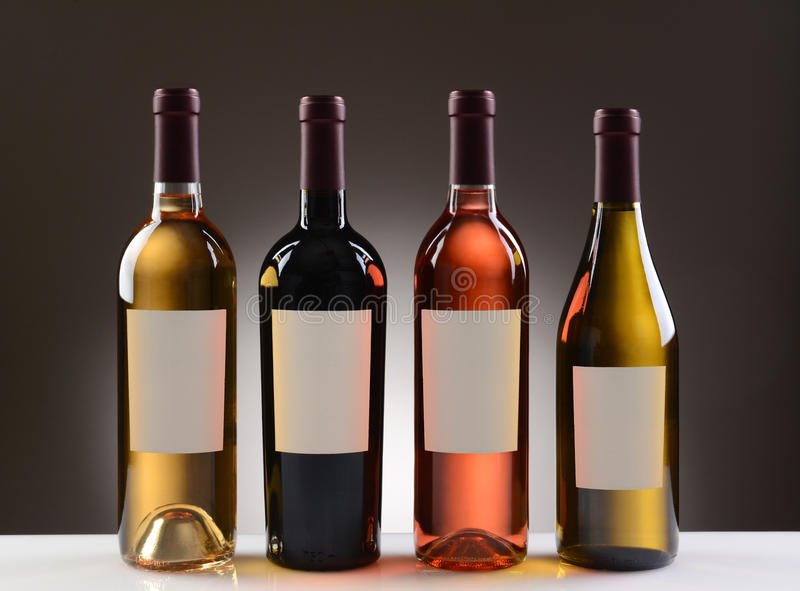 Wine Bottles With Blank Labels royalty free stock photography