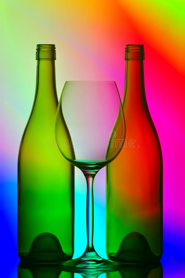 Download Wine bottles and glass stock image. Image of bottles - 18194557