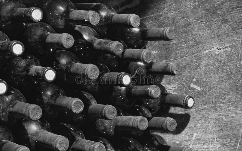 Vintage wine bottles stock photo