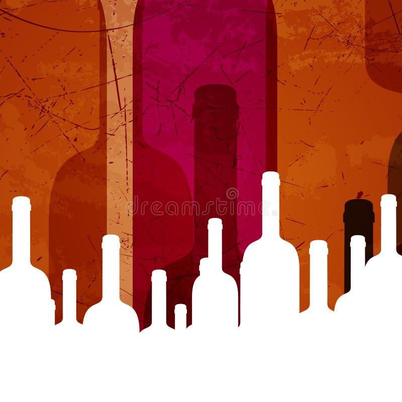 Wine bottles. Illustration of an Abstract Wine Background vector illustration