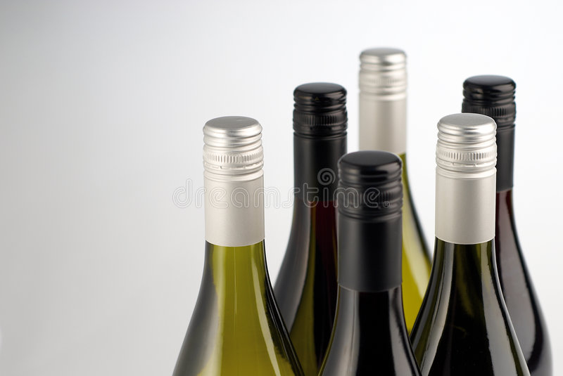 Download Wine Bottles Isolated On White Stock Photo - Image: 7115386